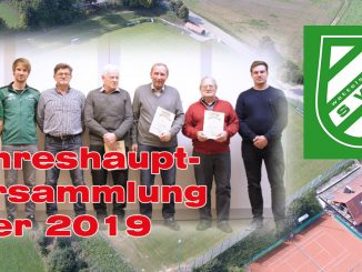 Jahreshauptversammlung über 2019